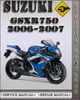 Thumbnail 2006-2007 Suzuki GSXR750 Factory Service Repair Manual