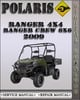 Thumbnail 2009 Polaris Ranger 4X4 Ranger Crew 6X6 Factory Service Repair Manual