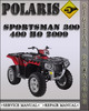Thumbnail 2009 Polaris Sportsman 300 400 HO Factory Service Repair Manual