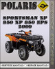 2009 Polaris Sportsman XP 850 XP 850 EPS Factory Service Repair Manual