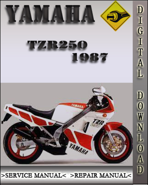1987 yamaha tzr250 factory service repair manual 1987. Black Bedroom Furniture Sets. Home Design Ideas