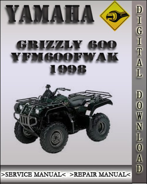 1998 yamaha grizzly 600 yfm600fwak factory service repair. Black Bedroom Furniture Sets. Home Design Ideas
