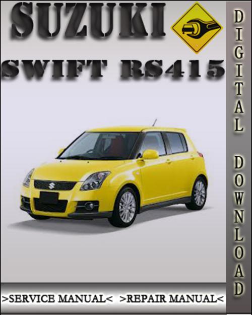 2004 Suzuki Swift Rs415 Factory Service Repair Manual