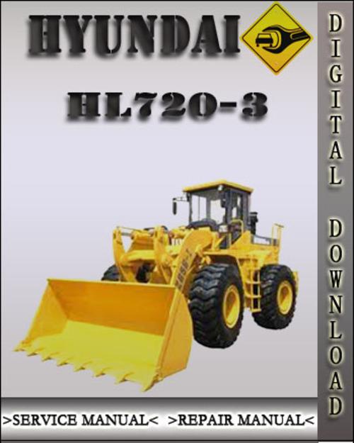 hyundai hl720 3 wheel loader service repair workshop